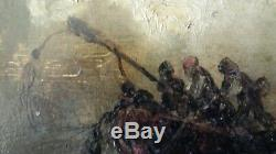 A Study Ancient Painted Oil On Panel Wood Xixth Cartridge Gericault