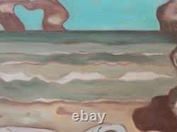 Ancien Tableau Oil On Naïf Art Panel Signed Jean Velliot 1920 1999