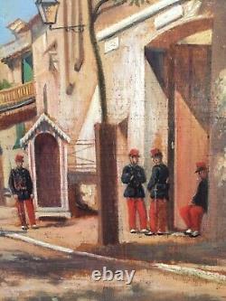 Ancient 19th Century Painting Of Felix Malard Oil On Signed Panel