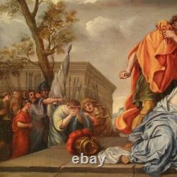 Ancient Biblical Painting Oil Painting On Canvas Religious Frame 18th Century
