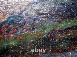 Ancient Dutch Landscape Oil Painting On Canvas Oil Signed Breitner Painting