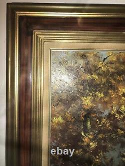 Ancient Oil On Canvas School Of Barbison 19ie Signed Baldy 20f 73x60