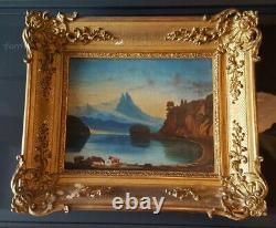 Ancient Oil Painting On Canvas
