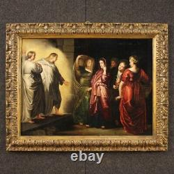 Ancient Oil Painting On Panel Painting With Religious Frame 600 17th Century