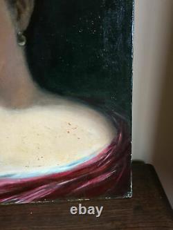 Ancient Painting Oil On Canvas Pompeo L. Pieri (xix) Portrait