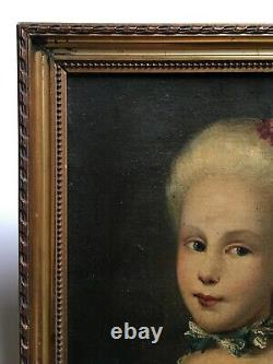 Ancient Painting, Oil On Canvas, Portrait Of A Girl In Costume, 19th