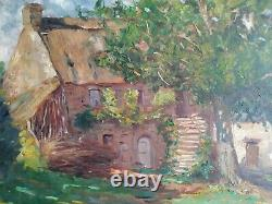 Ancient Painting Oil On Canvas Signed