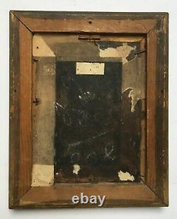 Ancient Religious Painting, Oil On Copper, Holy And Angels, Box, 18th