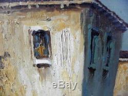 Ancient Table, Oil On Canvas Signed E. Mauretti, Venice Gondolier, 92cm X 46cm
