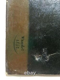 Antique Painting By Vandel, Daté 1842, Oil On Canvas, Portrait Of Man, 19th Century