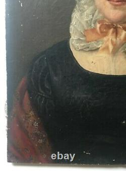Antique Painting, Governing Portrait, Oil On Canvas, 19th