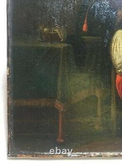 Antique Painting, Oil On Canvas, North School, Hairdressing Woman, 19th Or Before