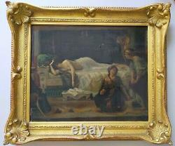 Antique Painting Oil On Canvas Phèdre Alexandre Cabanel