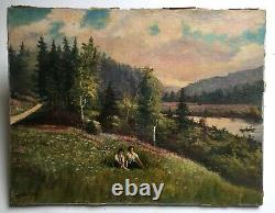 Antique Painting Signed And Dated 1938, Oil On Canvas, Austrian School 20th Century