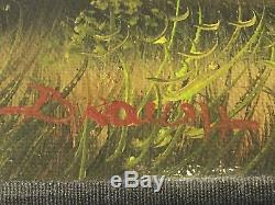 Beautiful Oil Painting On Old Canvas Signed To Identify Landscape 50x40