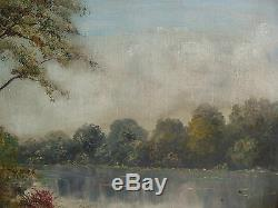Beautiful Old Oil On Canvas Framed And Signed Alray 1950