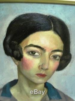 Berthomme St-andre (1905-1977) Woman Of Algiers Old Oil On Canvas 1927