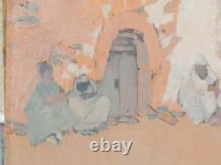 Ex Tableau Oil On Orientalist Panel Signed Jean-desire Bascoules