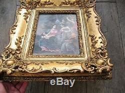 Flight Into Egypt Rare Antique Table Oil On Copper Albani Italian Circle 1700