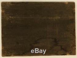 Former Marine Painting Oil On Panel Signed Wood Georges XIX # 2