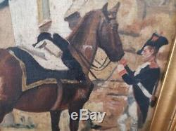 Former Military Oil Painting On Panel Signed Alex 1914