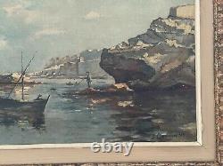 Former Oil On Canvas Painting Signed Guerin (1895) Montparnasse Framework