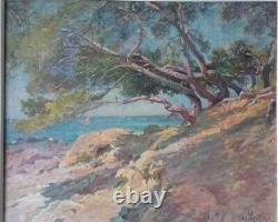 Former Oil Painting On Canvas Antoine Ponchin