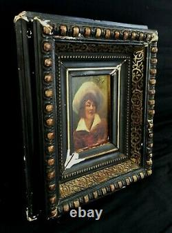 Former Oil Painting On Portrait Panel Xixth Signed To Identify