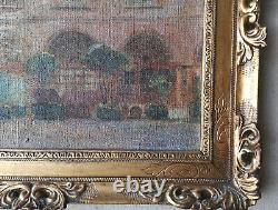 Former Painting Hotel De La Brinvilliers Oil On Canvas Signed André Nivard