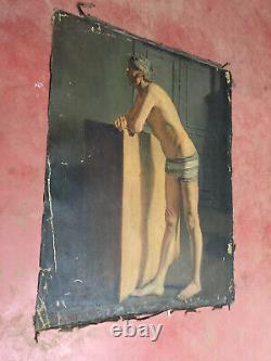 Former Painting Oil On Canvas Inconnu (xixe-s) Portrait