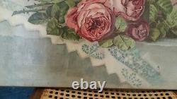 Former Painting / Oil On Canvas Signed With Roses Years 20-30
