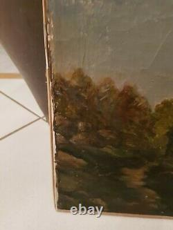 Former Painting Windmill Oil On Canvas Xixth Century, Signed Cailly