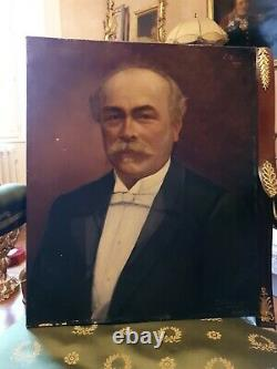 Former Portrait Of Man Late Xixth Century, Oil On Canvas Signed