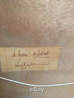 Former Table Oil On Panel Signed Leon Zeytline, Le Bassin De Lorient