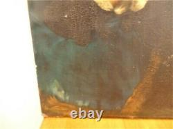 Grand Old Table Oil On Canvas Holy Marie Madeleine Religious Religious