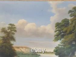 Grand Painting Ancient Oil On Canvas XIX Eme By A. Bertheau 1887