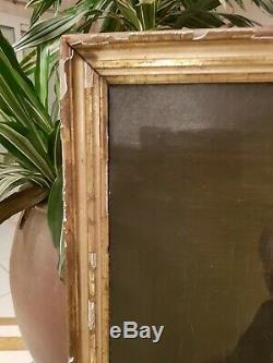 Grand Portrait Of Old Man, Oil On Canvas, Frame Golden Era XIX S