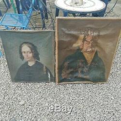 Hst 2 Oil Portrait On Canvas Restore Ancient Woman Man