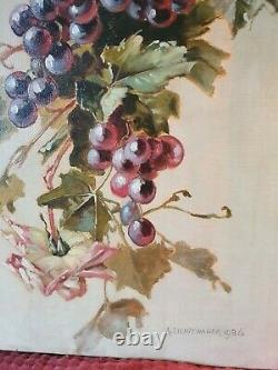 Large Old Oil Painting On Canvas Still Life Inspiration Catherine Klein 2