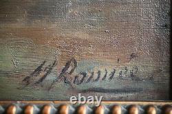 Mariette Romiée, Liège, Xix-xxe, Antique Painting, Bouquet Roses, Oil On Canvas