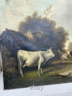Oil Ancien Table On Canvas