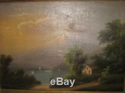 Oil On Canvas Old Italian School XIX
