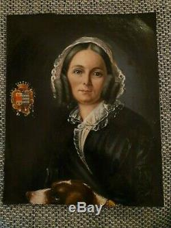 Oil On Canvas. Portrait At Old Coat