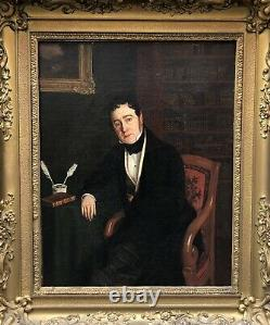 Oil On Canvas Portrait Of Man Dandy Signed Painting Ancient Painting Xixth