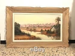 Oil On Canvas Xxth Old Henry Richevillain French Orientalist. Algeria