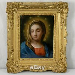 Oil On Copper Virgin, Madonna, Italian School Early Nineteenth Old Paint