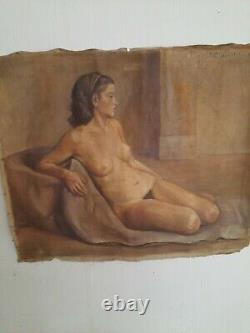 Oil On Old Nude Canvas