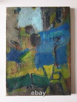 Oil Painting On Abstract Canvas Of The 50sanonyme Old Chassis