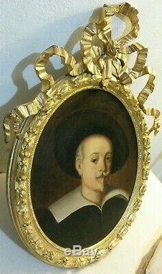 Old Louis XVI Painting Portrait Of Man Mousquetaire 18th Oil On Canvas