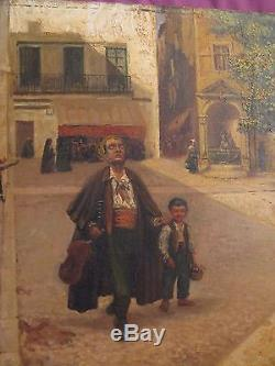Old Oil On Canvas Signed B. M Lesbrot Provencal Painter Dated 1908